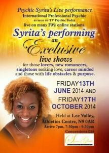 Psychic Syrita's Live Summer Performance