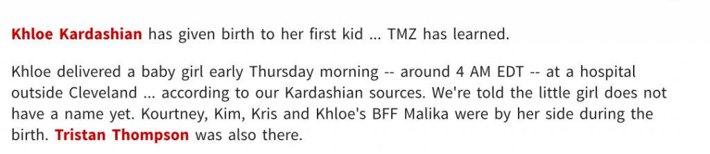 Syrita's Psychic Predictions…  On Khloé Kardashian Came True